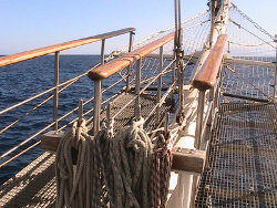 Wheelchair Accessible Bowsprit of Tall Ship Tenacious