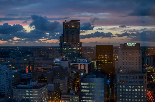 Sapporo at dusk by inefekt69 – flickr